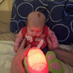 Here's Braveheart Megan again mesmerised with her musical night light...we hope it gives you sweet dreams xxx