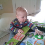 Braveheart Nathaneal after opening his gift - Now lets see what cool stuff this can do x