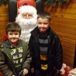 Sam & Arran with Santa